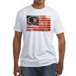 Malaysia Flag Fitted T-Shirt
