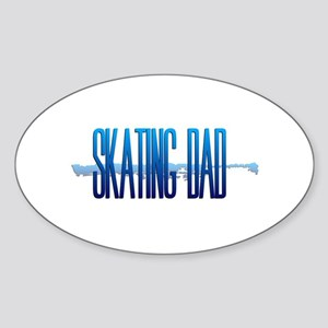 Skating Dad Sticker (Oval)