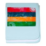 Mauritius Flag baby blanket