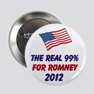 "The Real 99% for Romney 2012 2.25"" Button"