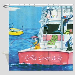 Gills Gone Wild Shower Curtain