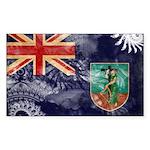 Montserrat Flag Sticker (Rectangle 10 pk)