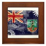 Montserrat Flag Framed Tile