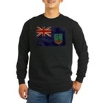 Montserrat Flag Long Sleeve Dark T-Shirt