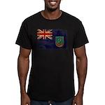 Montserrat Flag Men's Fitted T-Shirt (dark)
