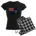 Montserrat Flag Women's Dark Pajamas