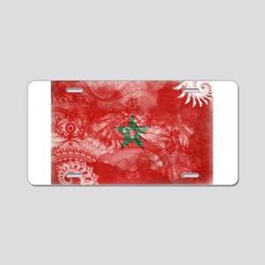 Morocco Flag Aluminum License Plate