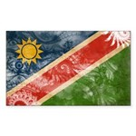 Namibia Flag Sticker (Rectangle 50 pk)