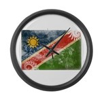 Namibia Flag Large Wall Clock