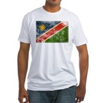 Namibia Flag Fitted T-Shirt
