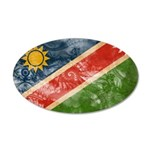 Namibia Flag 38.5 x 24.5 Oval Wall Peel