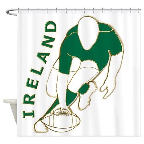 Ireland Rugby Style Shower Curtain