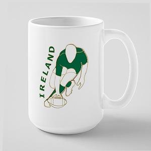 Ireland Rugby Style Large Mug