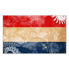 Netherlands Flag Sticker (Rectangle 50 pk)