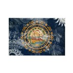 New Hampshire Flag Rectangle Magnet (100 pack)