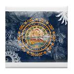 New Hampshire Flag Tile Coaster