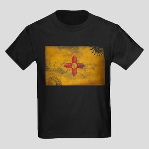 New Mexico Flag Kids Dark T-Shirt