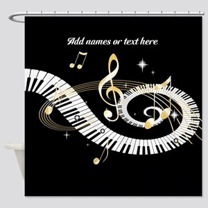 designer musical notes shower curtain - Musical Shower Curtains
