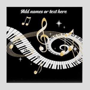 designer Musical notes Tile Coaster