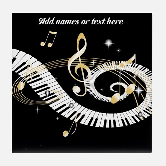 designer Musical notes Tile Coaster