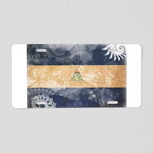 Nicaragua Flag Aluminum License Plate