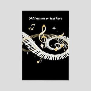 designer Musical notes Rectangle Magnet
