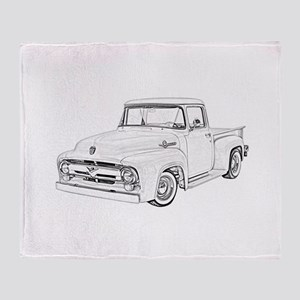 1956 Ford truck Throw Blanket