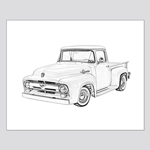 1956 Ford truck Small Poster