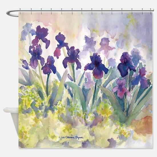 Purple Irises Shower Curtain