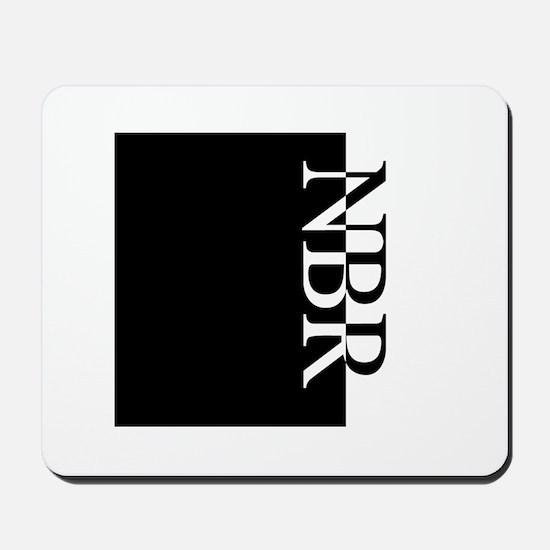 NBR Typography Mousepad