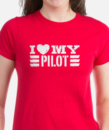 I Love My Pilot Women's Dark T-Shirt
