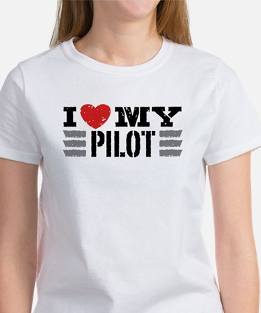 I Love My Pilot Women's T-Shirt