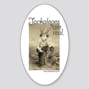 Jackalopes are real Oval Sticker