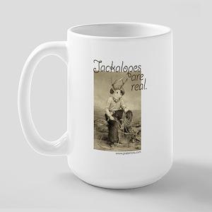 Jackalopes are real Large Mug