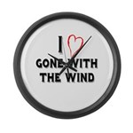 I Love Gone With the Wind Large Wall Clock