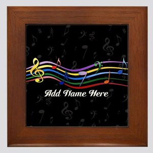 Personalized Rainbow Musical Framed Tile