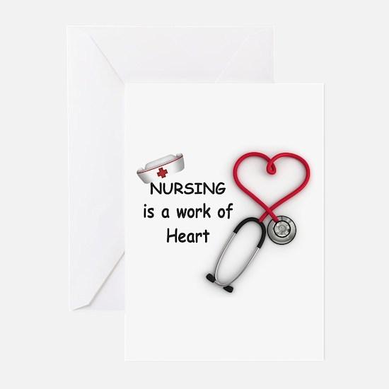 Nurses Work of Heart Greeting Cards (Pk of 20)