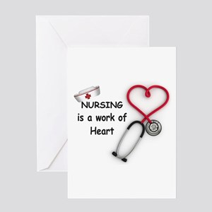 Nurses Work of Heart Greeting Card