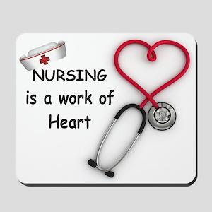 Nurses Work of Heart Mousepad