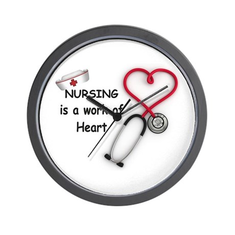 Nurses Work of Heart Wall Clock