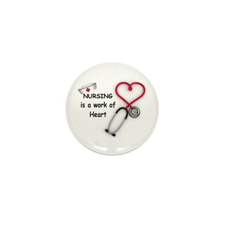Nurses Work of Heart Mini Button (100 pack)