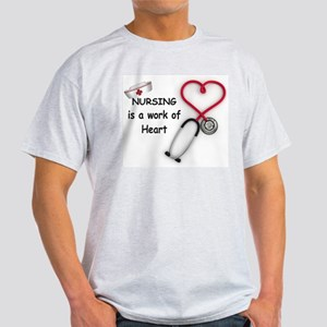 Nurses Work of Heart Light T-Shirt