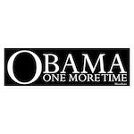 Obama One More Time Sticker (Bumper 50 pk)