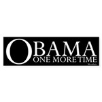 Obama One More Time Sticker (Bumper 10 pk)