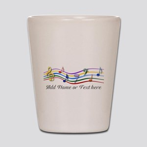 Personalized Rainbow Musical Shot Glass