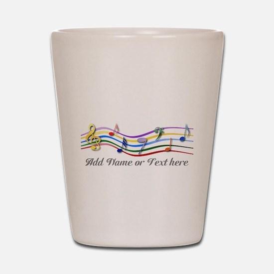 Personalized Rainbow Musical Shot Glass