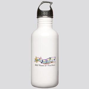 Personalized Rainbow Musical Stainless Water Bottl