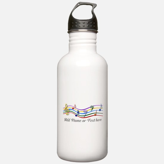 Personalized Rainbow Musical Water Bottle
