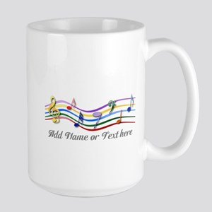Personalized Rainbow Musical Large Mug