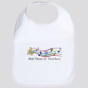 Personalized Rainbow Musical Bib